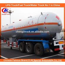 20t Heavy Duty LPG semi reboque 40000L / 40cbm LPG reboque de tanque para venda quente