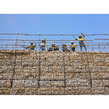3,9 mm Galvanized Gabion Box untuk River Bank Project