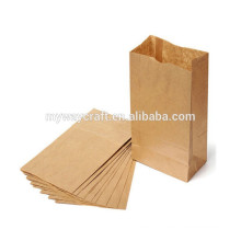 Sacola de papel de papel kraft pequeno e resistente à gordura para comida