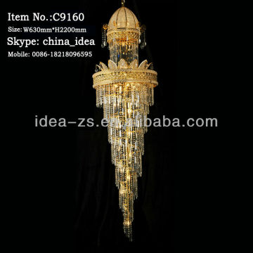 luxury crystal pendent lighting bali wedding decor crystal chandelier for staircases