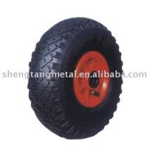 roue pneumatique en caoutchouc PR1008 pour chariot à main