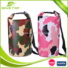 Camouflage color Customized Waterproof Travel Camouflage Dry Bag with Shoulder Strap with custom logo