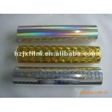 Película metalizada holográfica bopet