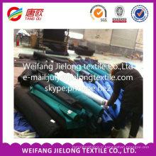 polyester coton CVC spandex teints tissu pour vêtement tissu de spandex stock