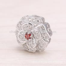 SEP029 Accesorios de bricolaje Camelia colgante Collar de mujer de joyería de plata hermosa con plata 925