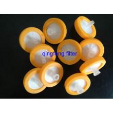 Filtro de jeringa de anillo de color de 0.2um \ 0.45um para filtración de laboratorio