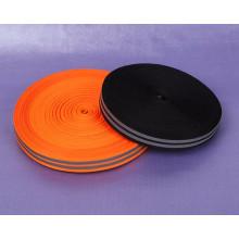 high light 5cm width fluorescent reflective polyester webbing tape
