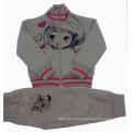 Winter Good Quality 100% Cotton Fleece Children Suit 2PCS Set Clothes Children Hoodies Outwear+Tpants Baby Leisure Suit Swg-001