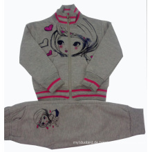 Winter Gute Qualität 100% Baumwolle Fleece Kinder Anzug 2 STÜCKE Set Kleidung Kinder Hoodies Outwear + Tpants Baby Freizeit Anzug Swg-001