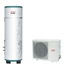 Heat pump water heater for shower