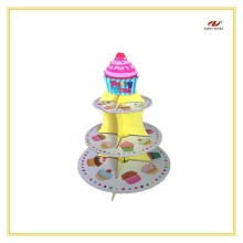3 Tire Beautiful Hot Sale Cup Cake Stand