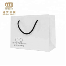 Saco de mão de papel de empacotamento feito personalizado personalizado resistente resistente da mercadoria do presente com punhos da corda