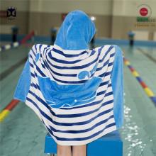 Animal design bamboo baby hooded bath towel