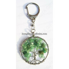 Aventurine Round shape Gemstone keychain,gemstone pendant keyrings,stone key chain-lucky key chain