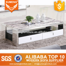 SUMENG home furniture cheap center coffee table with drawers for sale