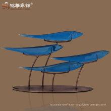 Большие голубые рыбы Фортуна имитация творческие подарки завод прямые оптовые нефрита смолы ремесел