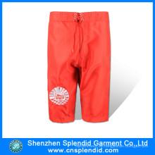 Großhandelsmens-Sport-Qualitäts-einfache rote Schweiß-Kurzschlüsse von China