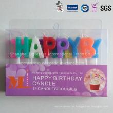 Vela francesa personalizada del cumpleaños de la materia prima respetuosa del medio ambiente personalizada