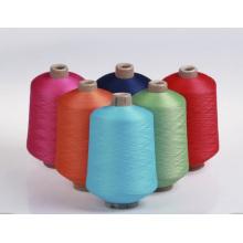 Hilo de seda del poliéster de la elasticidad super suave de la venta caliente para hacer punto