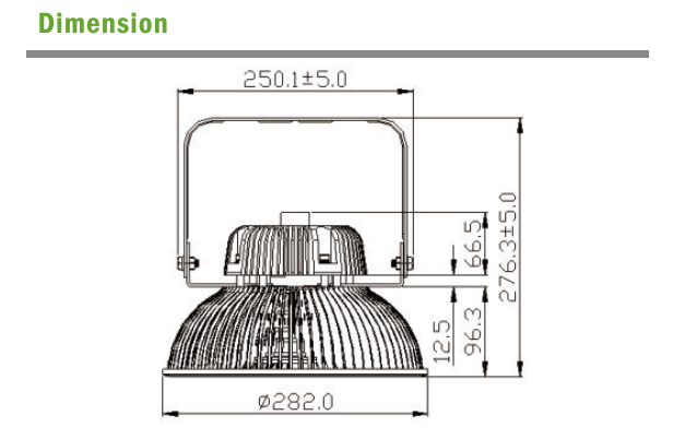 LED High Bay dimmension 1