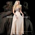 глубокий горный хрусталь шеи элегантный вечернее платье 2015