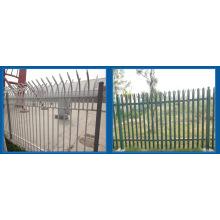 Гальванизированный и PVC Покрынный стальной забор частокол, Палисад, Загородка Евро