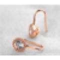 Nouveaux produits innovants 2016 fantaisie à la mode la plus nouvelle de qualité supérieure en or zircon boucle d'oreille en or