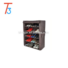 Wholesale 6 tiers non-woven fabric shoe rack cabinet with cover