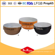 CIQ and FDA Certificate color glazed ceramic bowl wholesale
