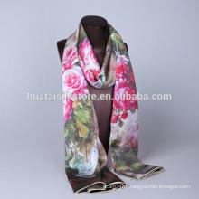 Восточный дизайн 100% шелковый шарф в цифровой печати