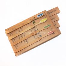 Escova de dentes de bambu não plástica amigável do punho da terra