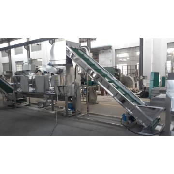 The stainless steel cutting and seeds out machine