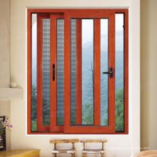 Fenêtres coulissantes en aluminium à 3 voies avec moustiquaire
