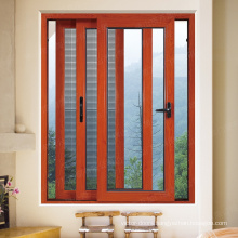 Aluminium 3 track sliding windows with mosquito net