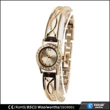 Relojes de oro del reloj de la ginebra del oro