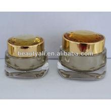 NOVO Frasco de acrílico de diamante para embalagens cosméticas