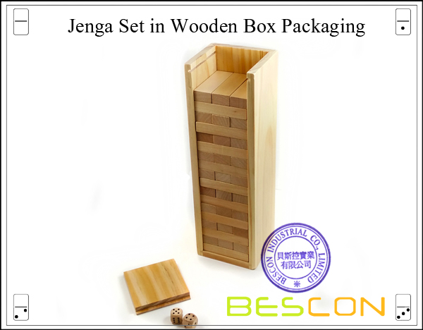 Jenga Set in Wooden Box Packaging-2