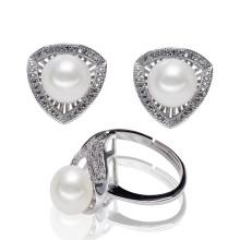 Стерлинговый серебр оптовый естественный культивированный комплект перлы