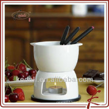 ceramic mini chocolate fondue set