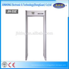 Porte de sécurité de détecteur de métaux de Walkthrough de 33 zones avec la sensibilité élevée