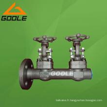 Double vanne en acier compacte de porte (GAZ61Y)