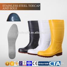 CE Steel Toecap и Подошва ПВХ мужчин дождя сапоги и TPR инъекции безопасности сапоги