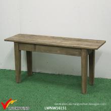 Banco de madera rústico al aire libre / jardín