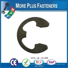 Made in Taiwan Schwarz Phosphat 15mm Edelstahl Feder Stahl Metric E Clip