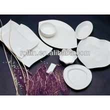 Feines weißes Porzellan-Ofen sicheres Hotel-Kochgeschirr-Set, Geschirr