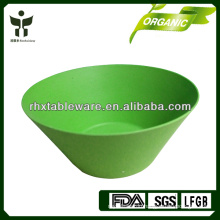 Printed or solid color bio bamboo fiber bowl