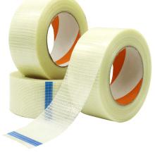 Fita de filamento de fibra de fibra trançada para embalagem pesada bidirecional