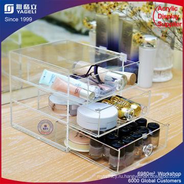 Акриловая коробка для хранения с ящиками