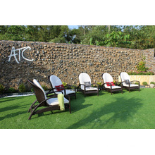 PE Rattan Sun Lounger Outdoor Furniture from Vietnam