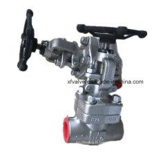 API602 150lb a forgé la valve de globe d'extrémité de fil d'acier inoxydable NPT